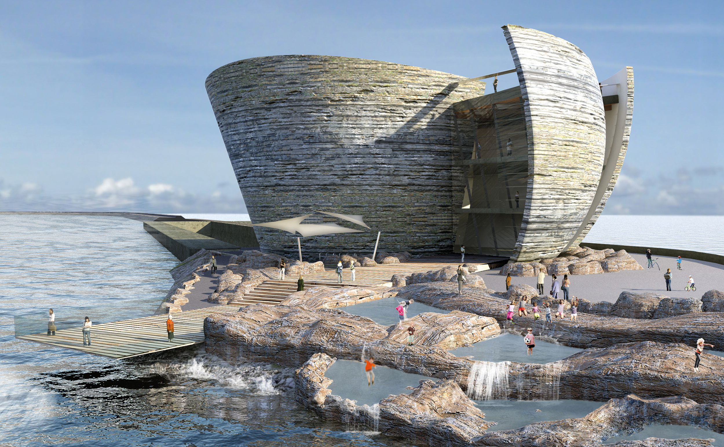 Hydro news 32 swansea bay wales arrival area and rock pools nvjuhfo Images