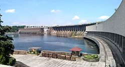 Hydroelectric power plant Dnipro 1, Ukraine
